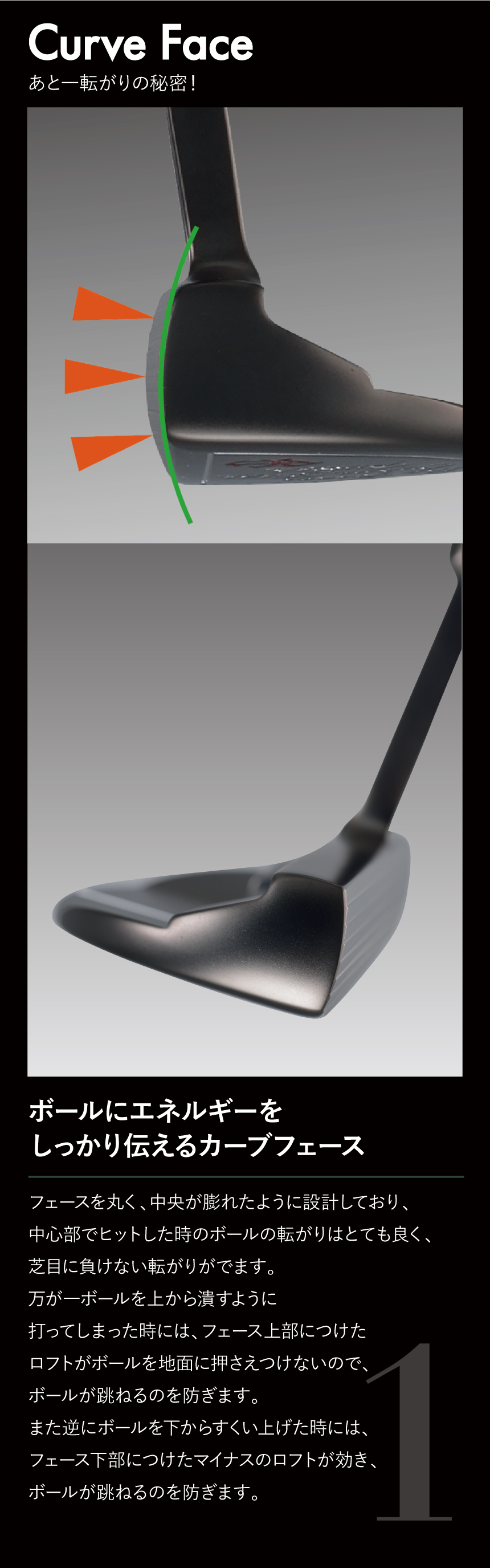 The Roots Curve Face Putter